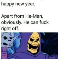 Happy New Year!! Except you He-Man!!