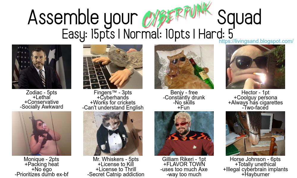 Assemble Your CyberpunkSquad